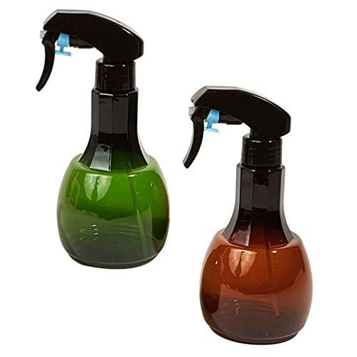 FRCOLOR 2 Pzas Botella de Aerosol para Barbería Botella de Chorro de Whisky Olla de Agua para Peluquería de Color Ámbar Recargable Vacío para Flujo de 550Ml para