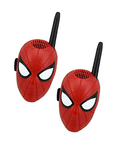 Walkie talkies para Personajes de superhéroes Spiderman para niños con radios bidireccionales de Largo Alcance