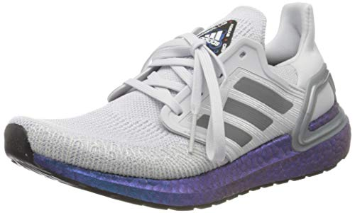 adidas Damen Ultraboost 20 W Laufschuh, Dash Grey/Grey Three F17/ Boost Blue Violet Met, 40 2/3 EU