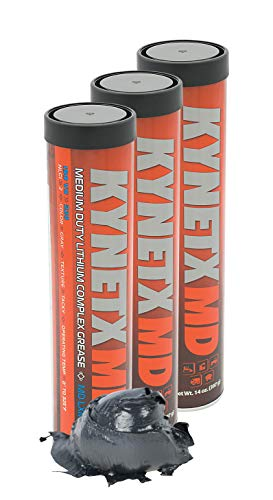 Kynetx 3% Moly Lithium Complex Grease, NLGI Grade 2 (MD LXM27), 14 Oz Cartridge, 3 Pack