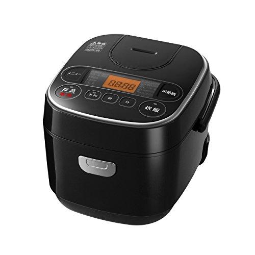 【Amazon.co.jp限定】アイリスオーヤマ 炊飯器 マイコン式 3合 極厚銅釜 銘柄炊き分け機能付き ブラック SmartBasic