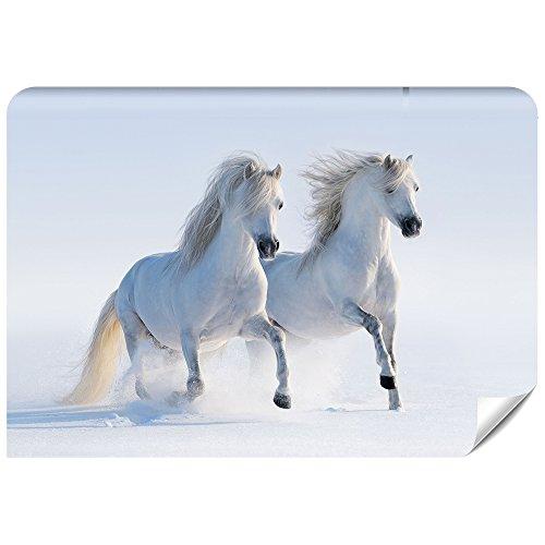 Demur Fototapete Vlies Pferde - Tapete Tapeten Fototapeten Fürs Wohnzimmer FDB18 (XS - 220 x 154 cm)