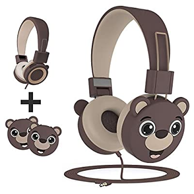 KidMoments Kids Headphones with 85dB Volume Limited Hearing Protection,Tangle-Free Cord, Wired On-Ear Headphones for Children,Toddler,Baby from Shenzhenshi Xinchangtu Technology Coltd