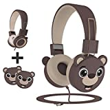 KidMoments Kids Headphones with 85dB Volume Limited Hearing Protection,Made of Food Grade Material,BPA-Free,Tangle-Free Cord, Wired On-Ear Headphones for Children,Toddler,Baby