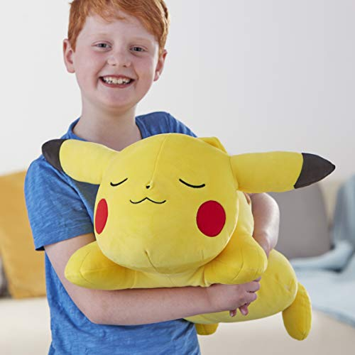 "Pokemon Pikachu Plush, 18"" Plush Toy - Adorable Sleeping Pikachu - Ultra-Soft Plush Material, Perfect for Playing, Cuddling & Sleeping - Gotta Catch 'Em All"
