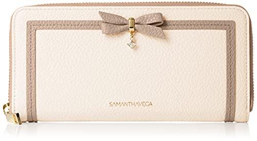 [サマンサベガ] 二つ折り財布 公式 リボンロングウォレット レディース オフホワイト