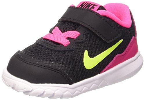 Nike Flex Experience 4 (TDV) - Calzado Deportivo para Chica, Black/Volt-Pink Pow-White, Talla 22