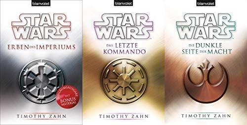 STAR WARS - Die Thrawn Trilogie (Erben des Imperiums, Die dunkle Seite der Macht, Das letzte Kommando) - 3 Romane