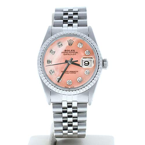Rolex-Mens-Datejust-16030-Custom-Pink-Mother-of-Pearl-Diamond-Dial-Certified-Preowned