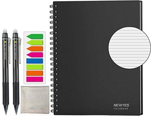 HOMESTEC スマートノート A4サイズ 無限ノート 消せる手帳 デジタル メモ ルーズリーフ おもしろ 文房具 無限に使えるノート (横罫)