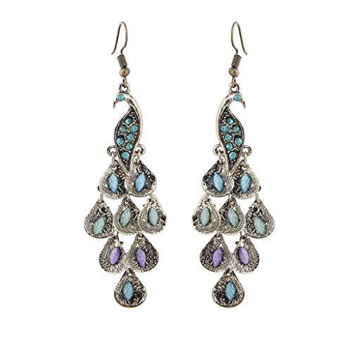 sunnymi  Pendientes vintage boho Style Peacock Geometrische seguidores femeninos pendientes joyas