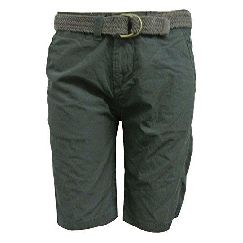 Petrol Industries - korte broek jongens bermuda met riem, antraciet - B-SS17-SHO550a