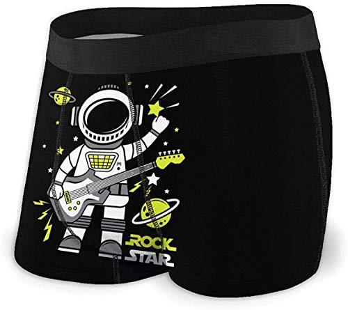 Herren Unterwäsche Boxershorts Astronaut Rock Star Men's Quick Dry Cool Boxer Brief Regular Fit Underwear