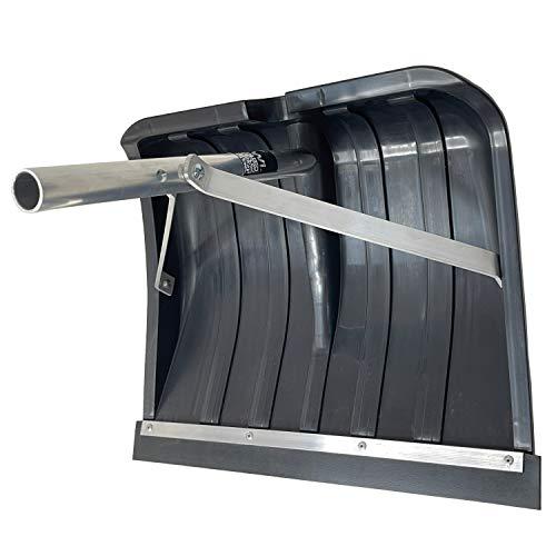 FenWi Schneeräumer als Zubehör zu Teleskopstange oder Teleskopstiel I Schneeschaufel I Dachräumer zur Schnee-Entfernung mit Gummi-Schürfleiste als Oberflächenschutz