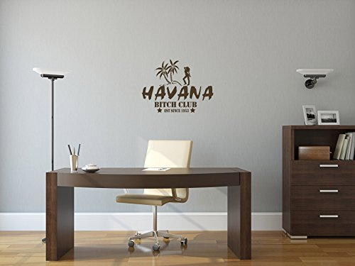 Comedy Wall Art Havana - Bitch Club - EST Since 1953 - Braun - ca. 40 x 30 cm