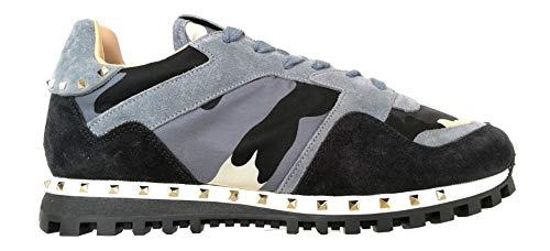 Valentino Garavani RY0S0952NYM RE8 Avio - Zapatillas deportivas para hombre, color gris y negro Size: 40 EU