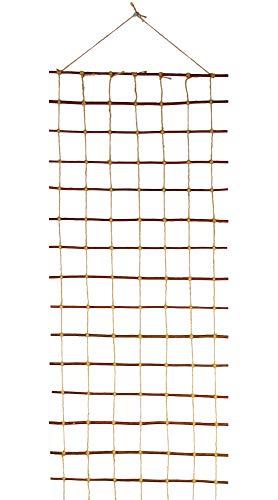 Floranica® Support pour Plantes grimpantes | Treillis pour Plantes en Bois de Saule et Non traité et Corde de Jute | sans Risque pour légumes de | Long: 200 cm, Largeur:30 cm
