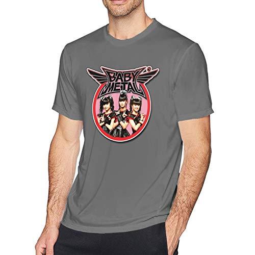 Babymetal T Shirt Deep Heather M Men T-Shirt aus Baumwolle für Herren Kurzarm Männer Tshirt Rundhalsausschnitt