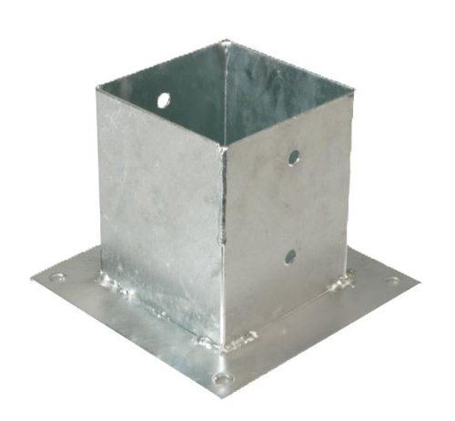 GAH-Alberts 217679 Aufschraubhülse für Vierkantholzpfosten - feuerverzinkt, 121 x 121 mm