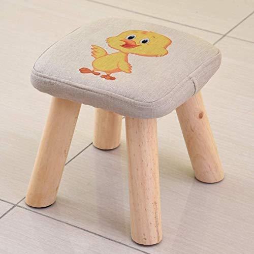 Kleiner Hocker, Pilz-Hocker, einfach, modern, niedriger Hocker, kreativer kleiner Stuhl, Sofa, Hocker, Massivholz, 28 x 28 x 28,5 cm D