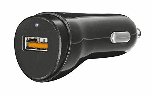 Trust Urban Universal Kfz-Ladegerät mit USB-Anschluss (Quick Charge 3.0, 2.4A, 12 Watt, geeignet für iPhone, iPad, iPod, Smartphones und Tablets) schwarz