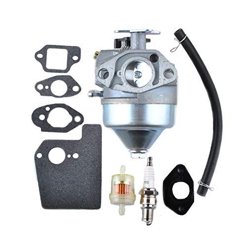 Poweka 16100-Z0Y-013 Carburetor for Honda GCV190 GCV190A GV190LA HRB217 HRX217 HRX217K1 HRX217K2 Assembly Engines with 16211-ZL8-000 Carburetor Insulator Gaskets Replace 16100-Z0Y-853 16100-Z8D-911