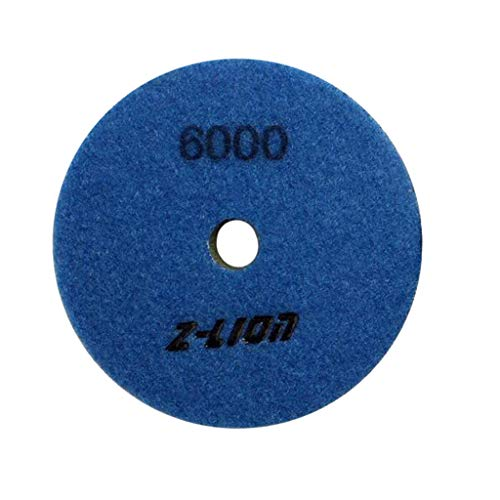 4\'\' Schwamm Diamant Polierpad 100mm Schleifscheibe für Marmor Betonstein, Dicke: 4mm - 6000
