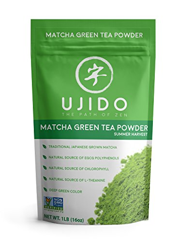 Ujido Japanese Matcha Green Tea - Summer Harvest - 2nd Harvest - High Culinary Grade (16 Ounce)