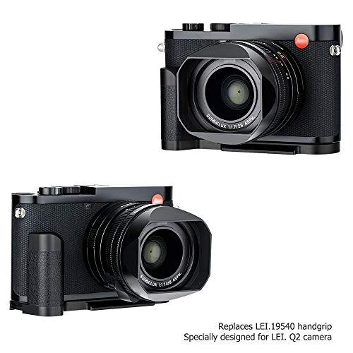 Handgriff Kameragriff für Leica Q2   Verbessertes Handling   Arca Swiss schnellwechselplatte kompatibel mit Stativ   Akku direkt wechseln   Metall L Bracket
