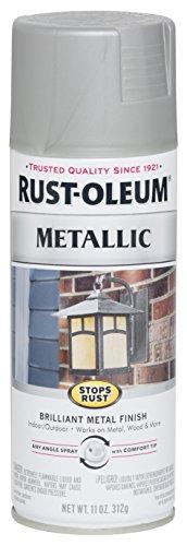 Rust-Oleum 7277830 Stops Rust Metallic Spray Paint, 11 oz, Matte Nickel