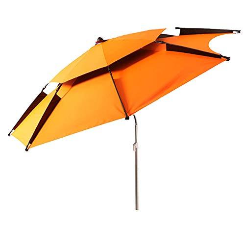 SJBD-Coaster Sombrilla para Cubierta al Aire Libre, sombrilla para Pesca, Tela Impermeable para protección Solar, sombrilla portátil, ventilación, fácil Ajuste de inclinación