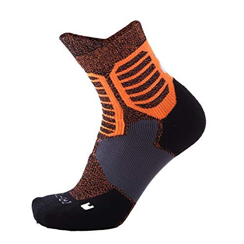 Basketball Socken Herren dicken Handtuchboden Rohr Socken atmungsaktiv Schweiß Sportsocken,Orange