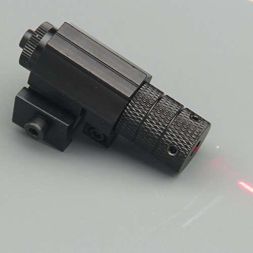 CISNO Metal Housing Tactical Red Laser Scope Sight for Pistol Picatinny W/Remote Pressure Switch