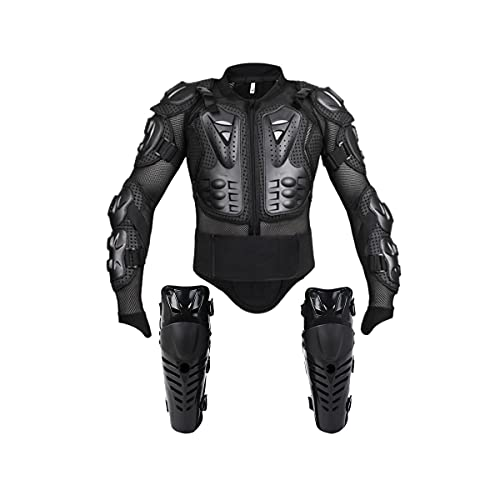 Motorcycle Protective Jacket Full Body Armor, Spine Chest Protection Gear with Knee Pads for Sport...