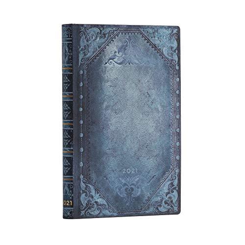 Paperblanks 12 Monate Softcover Flexis-Kalender 2021 Peacock Punk Schlicht | Horizontal | Mini (95 × 140 mm)