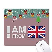 イギリス出身です ゲーム用スライドゴムのマウスパッドクリスマス