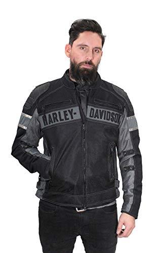 Harley-Davidson 98295-17VM - Chaqueta funcional reflectante para hombre -  Negro -  X-Large