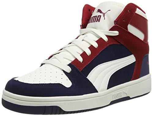 PUMA Unisex Rebound Layup SD Sneaker, Peacoat Vaporous Grau Rot Dahlie, 46 EU