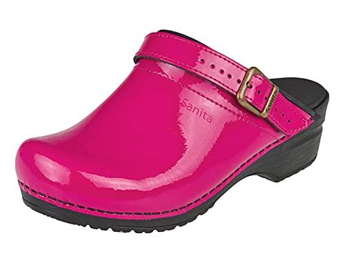 Sanita Women's Freya Open Clogs, Pink Pink Fuchsia 79, 9