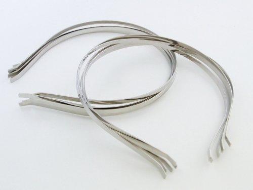 紗や工房 使い方色々!ハンドメイド用カチューシャ10個セット 銀・シルバー