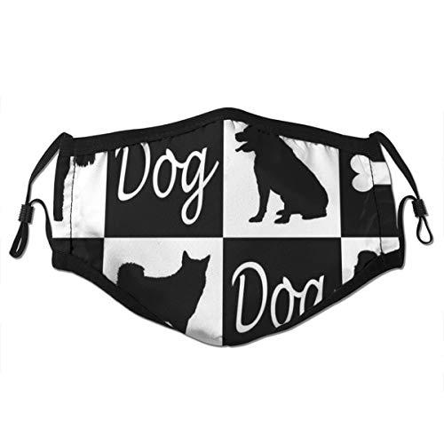 Waschbarer Mundschutz Anti-Staub-Gesichtsschutz,Hund in Gläsern im Büro,Wiederverwendbar winddicht für Outdoor-Ski Radfahren Camping Laufen