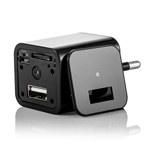 Versteckte Kamera mit Bewegungsmelder die Ladegerät Attrappe hat eine integrierte Full HD 1080P Überwachungskamera welche Videoaufnahmen inkl. Ton tätigt (Ohne SD-Karte)