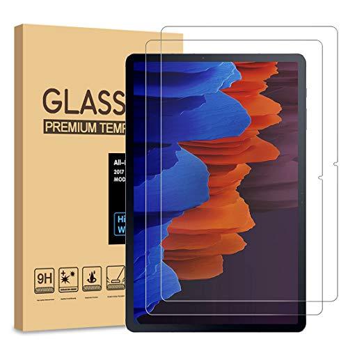 [2 Stück] PULEN Panzerglas Schutzfolie für Samsung Galaxy Tab S7 Plus(12.4 inch) [9H Festigkeit][Anti-Kratzen] [Anti-Bubble][Anti-Fingerabdruck][HD] Klar folie