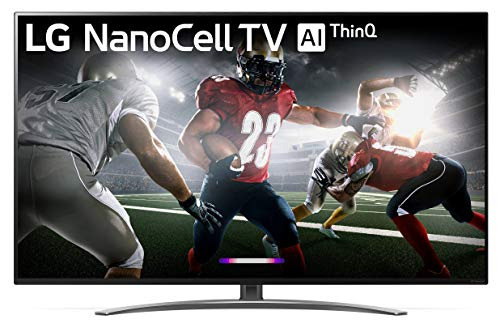LG 55SM8600PUA Nano 8 Series 55' 4K Ultra HD Smart LED NanoCell TV (2019), Black
