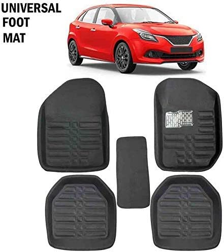 GTC Universal Carpet Car Floor/Foot Mats (ITN-934-1) (Set of 5) (Black)