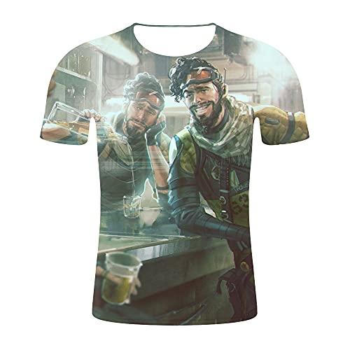 CCBZLY Apex Legends T-Shirt, Short Sleeve Summer T-Shirt, Men, Unisex Short Sleeve Crew Neck Summer T-Shirts Tops (Style 5, XXXL)