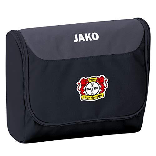 JAKO Striker Bayer 04 Leverkusen Kulturbeutel, schwarz/Grau, 0 (one Size)