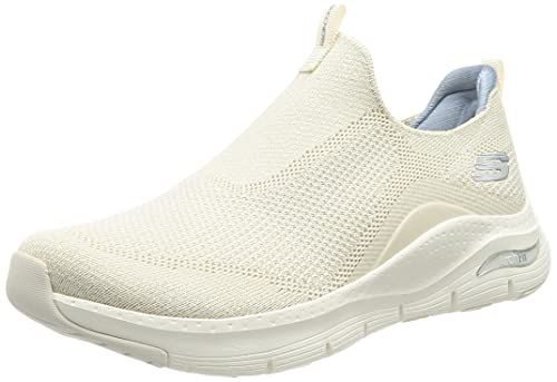 Skechers Arch Fit Keep It Up, Zapatillas Mujer, White, 38 EU