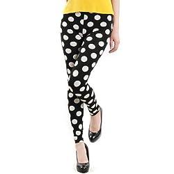 white dot  leggings