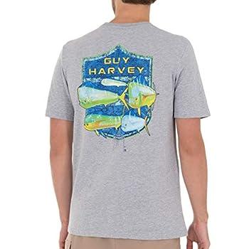 Guy Harvey Men's Offshore Haul Mahi Short Sleeve T-Shirt Sport Grey Heather Mahi Medium